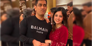 Sakshi and MS Dhoni